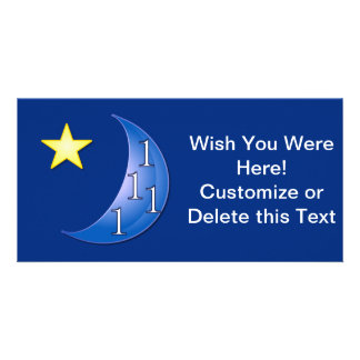 Customizable Once in a Blue Moon Picture Card