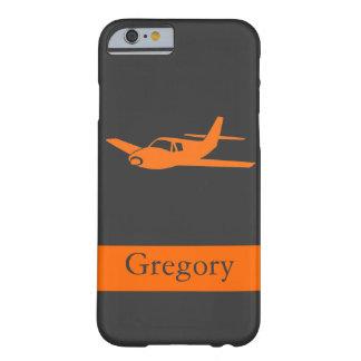 Customizable orange gray airplane iPhone 6 case