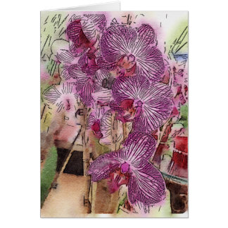 Customizable Orchids Greeting Card