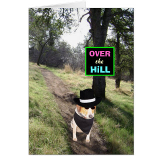 Customizable Over the Hill Greeting Card