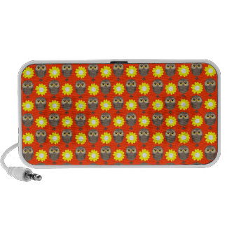 Customizable Owls & Daisies Portable Speakers