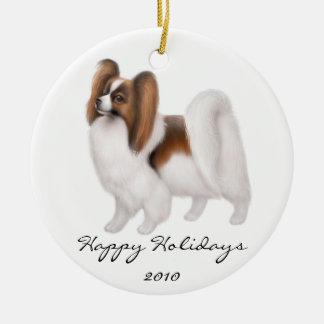 Customizable Papillon Dog Ornament