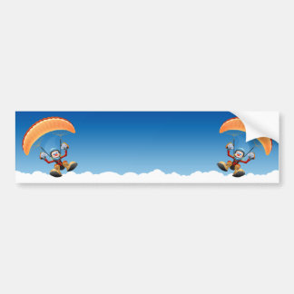 Customizable Paraglider Bumper Sticker