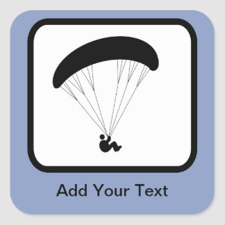 Customizable Paraglider Logo Square Sticker