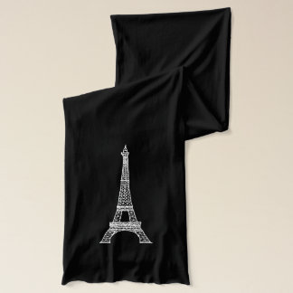 Customizable Paris Eiffel Tower_Black Scarf
