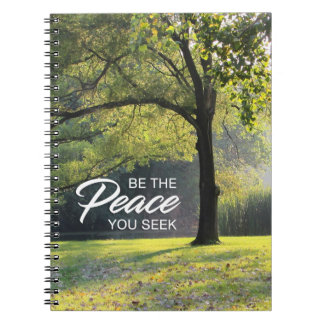 Customizable Peaceful Tree Notebook