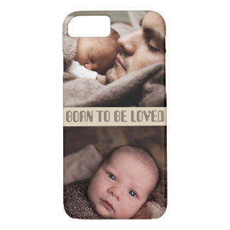 customizable personalized quote and photo x2 iPhone 8/7 case
