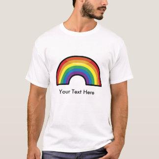Customizable, Personalized Rainbow (black border) T-Shirt