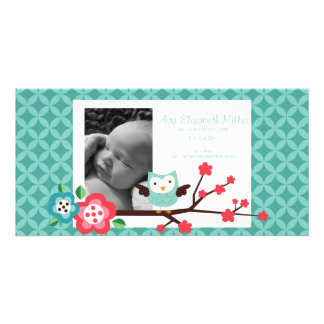 Customizable Photo Birth Announcement Card