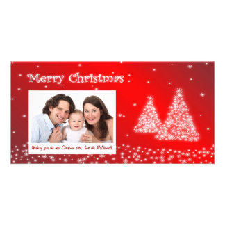 Customizable Photo Christmas Card - Christmas Tree Picture Card