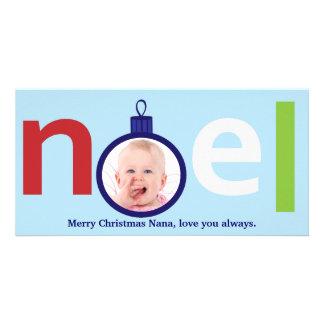 Customizable Photo Christmas Card - Noel Photo Card