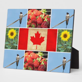 Customizable photo collage & Flag of CANADA Plaque