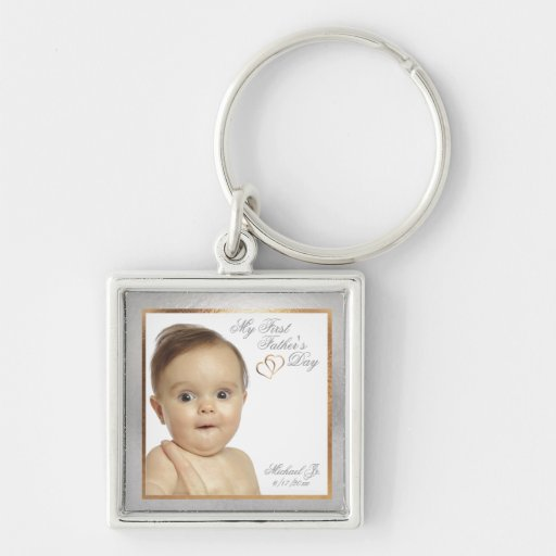 Customizable Photo First Father's Day Key Chain