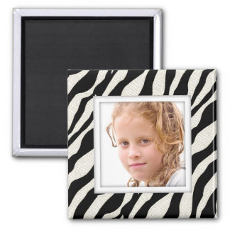 Customizable Photo Frame Zebra Print Magnet