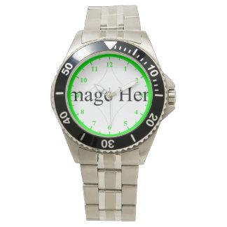 Customizable Photo, Men's Stainless Steel Watch