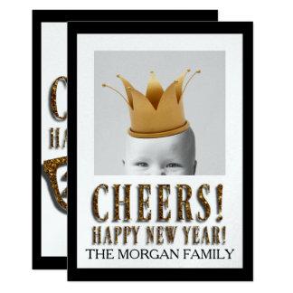 Customizable Photo New Year's GREETING CARD