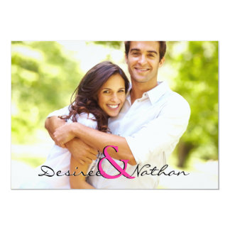 "Customizable Photo Wedding Invitation 5"" X 7"" Invitation Card"