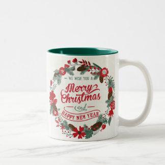 Customizable Photo Wreath Coffee Mug