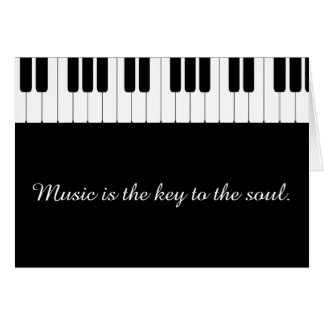 Customizable Piano Music Greeting Card