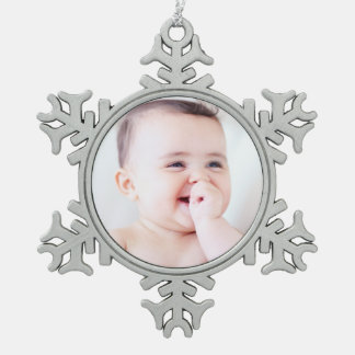 Customizable Picture Snowflake Christmas Ornament