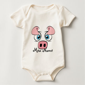 Customizable Pig Baby Baby Bodysuit
