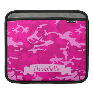 Customizable Pink Camo iPad Sleeve