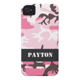 Customizable Pink Camo iPhone 4 Case