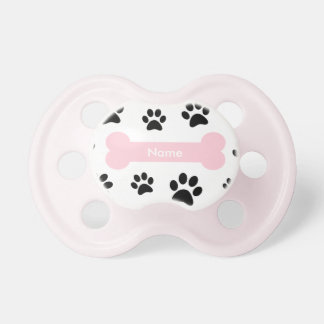 Customizable Pink Dog Bone with Paw Prints Dummy
