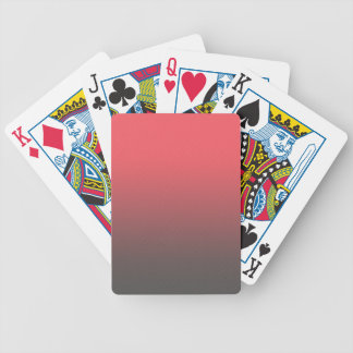 Customizable Pink Gray Ombre Background Poker Deck