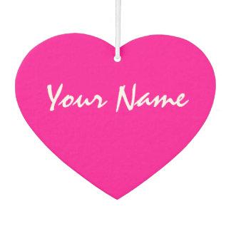 Customizable Pink Heart Car Air Freshener