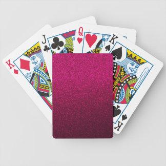 Customizable Pink Ombre Glitter Background Poker Deck