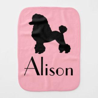 Customizable Pink Poodle Skirt Burp Cloth