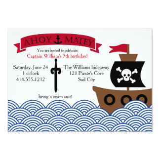 Customizable Pirate Birthday party invitation
