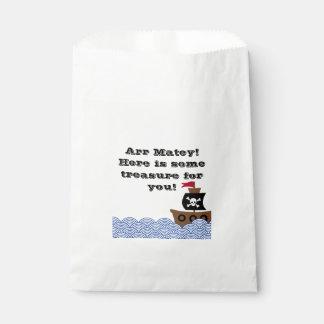 Customizable Pirate ship favor bag