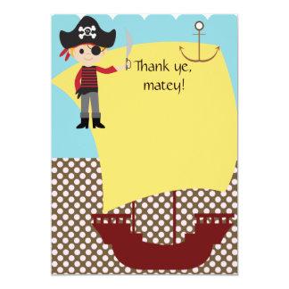 Customizable Pirate Ship Thank You Card