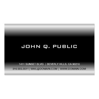 Customizable Plain Black & White Business Cards