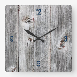 Customizable Plank Wood Paper Square Wall Clock