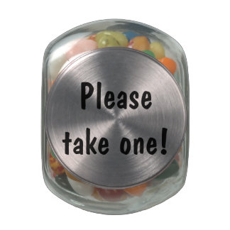 "Customizable ""Please take one!"" Glass Candy Jar"