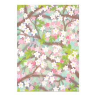 Customizable Plum Blossoms Party Invitation