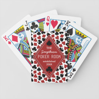 Customizable Poker Room or Club Casino Custom Bicycle Playing Cards