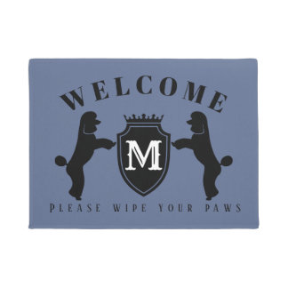Customizable Poodle Door Mat (Puppy cut)