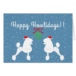 Customizable Poodle Holiday Card (Continental Cut)
