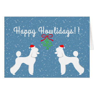 Customizable Poodle Holiday Card (Puppy Cut)
