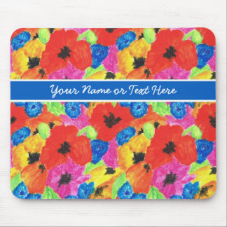 Customizable Poppies and Cornflowers Mousepad
