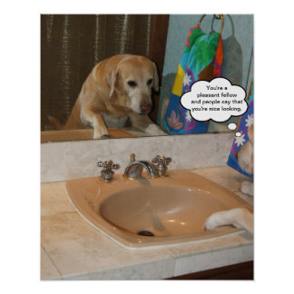 Customizable Positive Affirmation Yellow Lab Poster