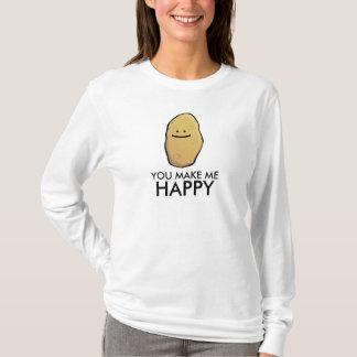 Customizable Potato Emoticon T-Shirt
