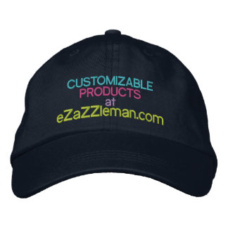 Customizable Products at eZaZZleman.com Embroidered Cap