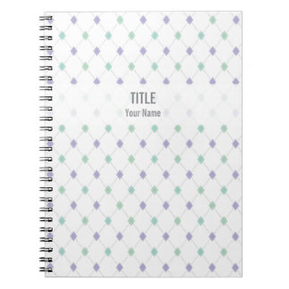 Customizable Project Notebook: Mint & Lilac Argyle Notebook