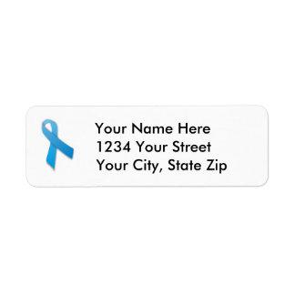 Customizable Prostate Cancer Address Label