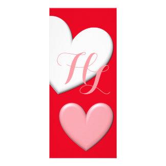 Customizable Puffy Hearts Custom Rack Cards